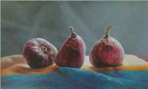 Gwen Gugell Painting Figgies  Still Life
